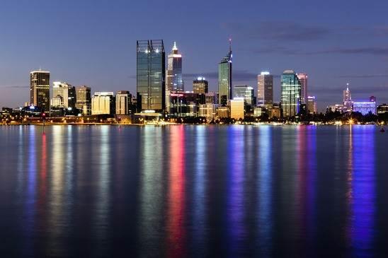 perth city at night