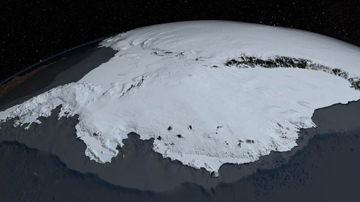 antarctica with ice