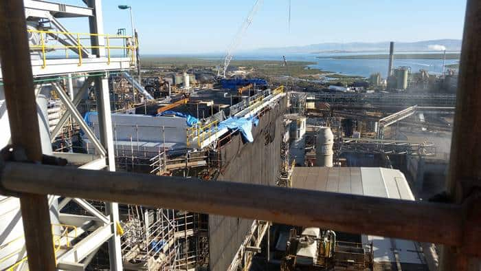 top down view from the port pirie smelter redevelopment in SA.